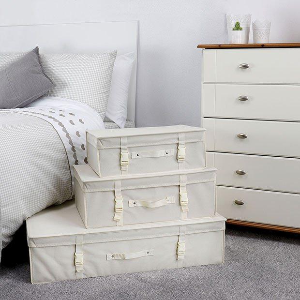 Ivory Garment Storage Boxes Hangerworld